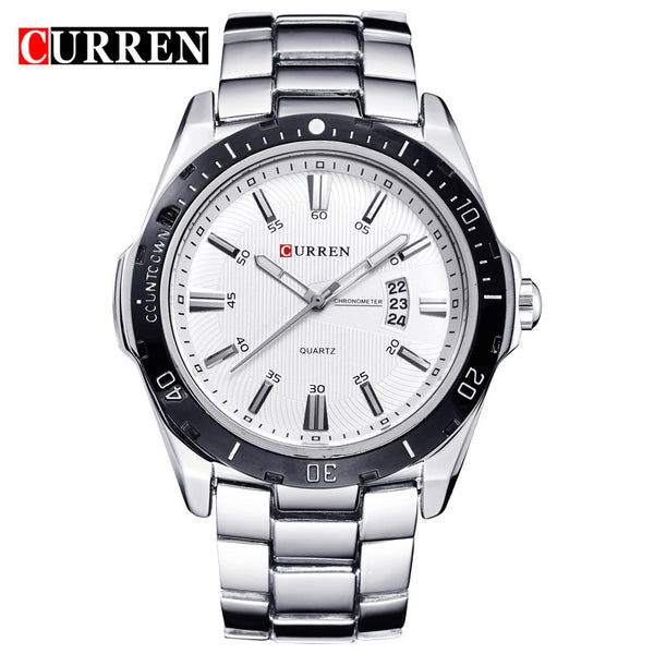 Curren 8110 Luxury Brand Men Watch Full Steel Business Quartz-Watch Day Date Calendar Wristwatch Fashion Relogio Masculino 2016