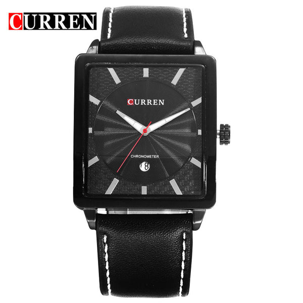 CURREN Business Fashion Quartz Watches Man Fashion Wristwatch genuine Leather strap Date Luxury Gold Relogio reloj hombre Male