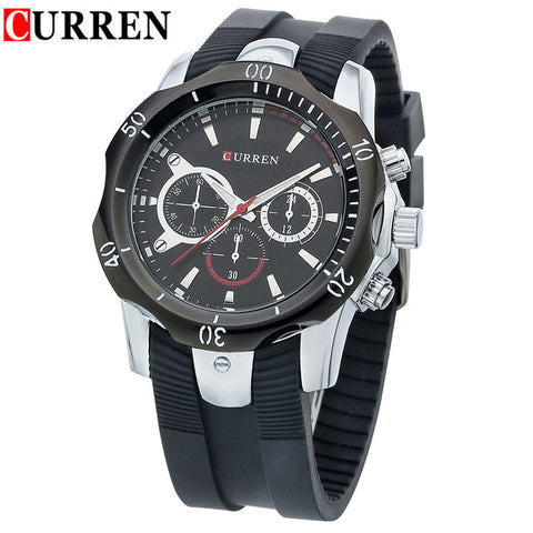 silicone straps men watches curren famous brand men s quartz watch silicone straps men watches curren famous brand men s quartz watch casual relogio wristwatches man sport watch