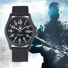 XINEW 2017 Nueva Outdoor Mens Watch Date Stainless Steel Military Sports Analog Quartz Army Wrist Man Watch Montre Homme Relojes