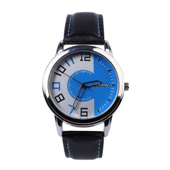 2016 New Fashion Simple Quartz Watch For Men Women Glass Analog Leather Stainless Steel Unisex Sports Watches 131