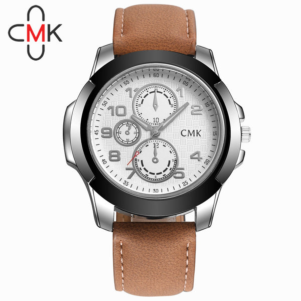 2016 new Men Corium Leather Strap Original Military Quartz watch army Business wristwatch male Casual sport clock relojes hombre