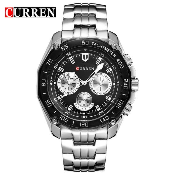 Curren Brand Fashion Military Quartz Watch Men Casual waterproof relogio masculino Army Wristwatch Silver relojes hombre 2017