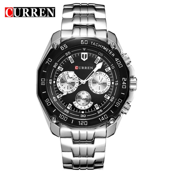 Curren Brand Fashion Quartz Watch Men's Casual waterproof Military Army Wristwatch relojes hombre 2017 New Full steel Watch