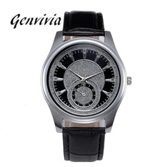 New Mens Watches Top Brand Luxury Watches Leather Stainless Steel Dial Business Quartz Wrist Watch Wristwatches Relojes