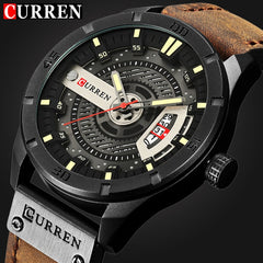 Army Military Sports Quartz Watch men's Top luxury Brand Leather strap Waterproof Wristwatch Male Clock Designer