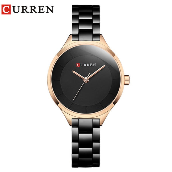 Women Luxury Quartz Watches Lasies Fashion Elegant Dress Wrist Watch CURREN Stainless Steel Female Bracelet Gift Clock