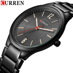 Black Mens Quartz Watch Waterproof Top Brand Luxury Stainless Steel Ultra Thin Business Military Male Clock Relogio Masculino