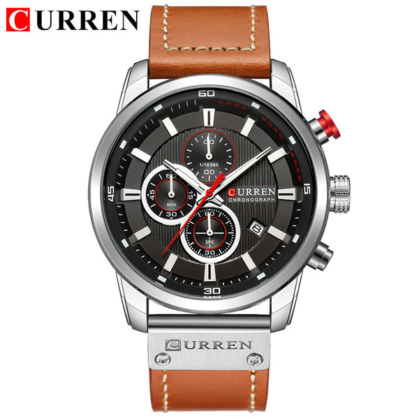 Top Brand Luxury Chronograph Quartz Watch Men Sports Watches Military Army Male Wrist Watch Clock CURREN