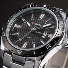 CURREN Luxury Brand Full Stainless Steel Analog Display Date Men's Quartz Watch Waterproof Watches Men Watch relogio masculino