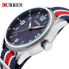 2016 Hot! CURREN Men Fashion Casual Watch Brand Luxury Wristwatches Men Auto Date sports Watches Men's Clock  Relogio Masculino