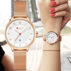 CURREN Women Watches Top Brand Luxury Gold Ladies Watch Women Stainless Steel Band Classic Dress Bracelet Relogio Masculino