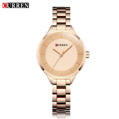 CURREN Rose Gold Watch Women Watches Ladies Stainless Steel Women's Bracelet Watches Female Relogio Feminino Montre Femme 9015