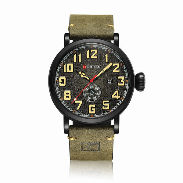 Curren Leather Band Watches Fashion Business Men High Quality Quartz Wrist Casual Sports Watches