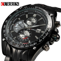 2016 New Curren fashion auto Date full steel Watch Military Man Business Casual quartz Wristwatch Brand Relojes Hombre Male