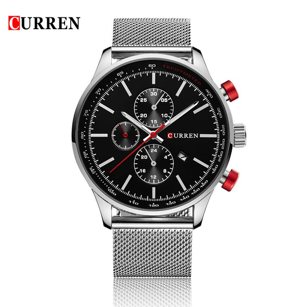 CURREN 2016 Brand Luxury Mens Quartz Casual Watch 30M Daily Water-resistant Man Business Wristwatch W/ Calendar Watch for Man