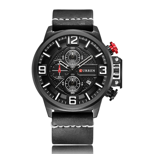 CURREN Fashion Sport Men Watches Quartz 3ATM Water-resistant Man Wristwatch Relogio Musculino Chronograph