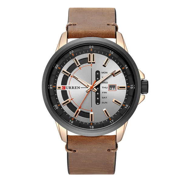 Curren High Quality Watch Fashion Casual Business Men Leather Quartz Male Sports Wristwatches Relogio Masculino