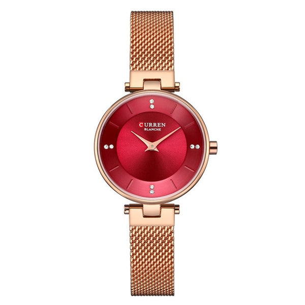 CURREN Dropshipping Fashion Silver Mesh Quartz Watch Women Metal Stainless Steel Dress Watches Relogio Feminino Gift Clock