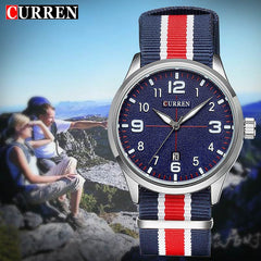 Curren Military Watch Men Fashion Casual Watches Men Wristwatch Nato Strap Sport Wrist Watch Male Clock Male Xfcs Reloj 8195