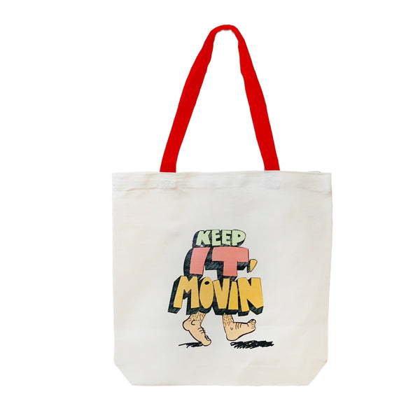 Copy of Keep it Movin | Canvas Tote Bag Red