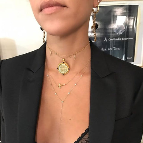 Kourtney Kardashian wearing the San Benito Medallion