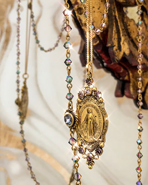 Virgins Saints & Angels Madonna Collection Swarovski Handmade Religious Jewelry Holy Mary Milagrosa Virgin VSA Designs