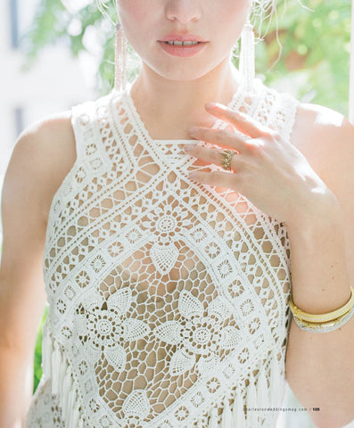 Twilight Goddess Ring featured in Charleston Weddings