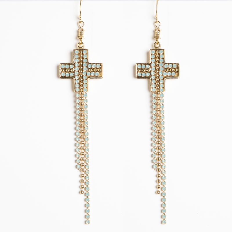 Resurrection Cross Chain earrings