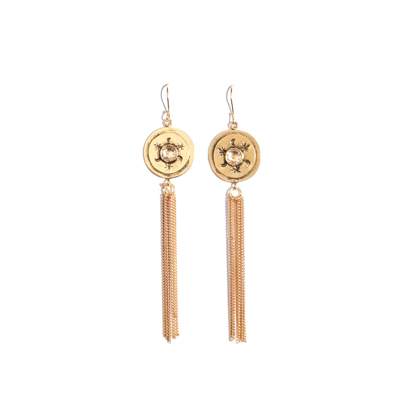 Mother Goddess Fringe Earrings