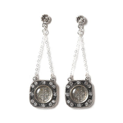 Meche Chain earrings - post - 925 sterling silver - VSA Designs