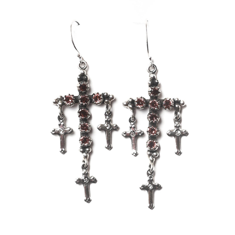 Madonna Multi-Cross earrings - hook - 925 sterling silver - VSA Designs