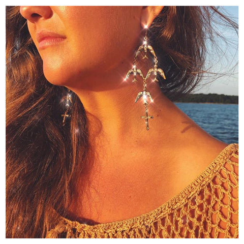 A Flock of Aves Earrings - VSA Designs