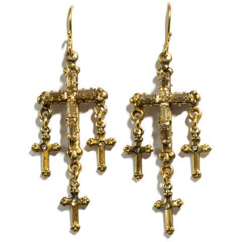 Madonna Multi Cross Earrings - VSA Designs