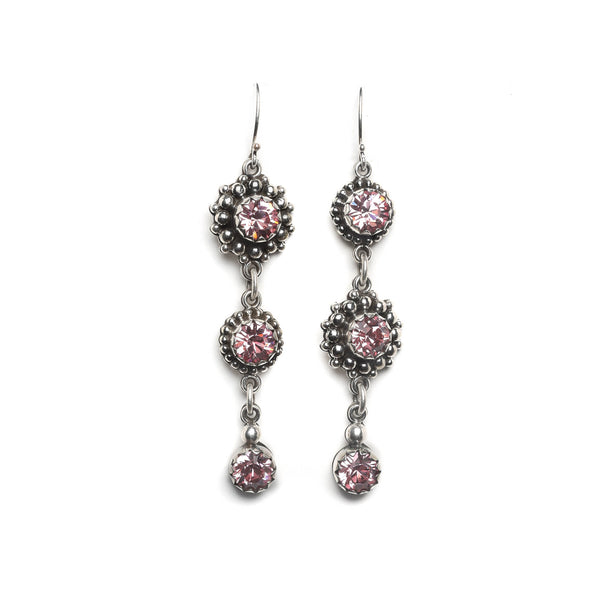 Viv Attitude Earrings - 925 sterling silver-lt. rose - VSA Designs