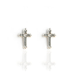 Post Lovers Cross Earrings