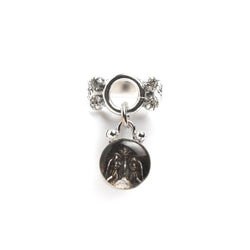 Luvie Dangle ring with guardian angel medallion-bronze silver - VSA Designs