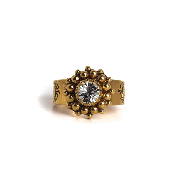 Viv Classic Ring - 925 Sterling Gold vermeil - VSA Designs