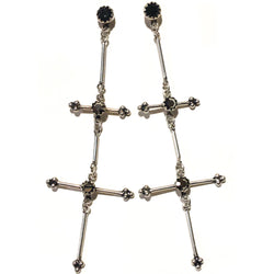Garland Double Cross Earrings - VSA Designs