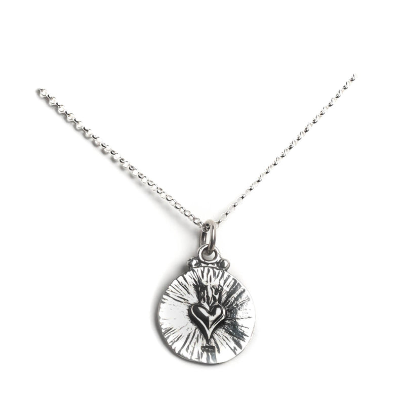 "My Guardian Angel charm 15"" to 17"" chain - 925 sterling silver - VSA Designs"
