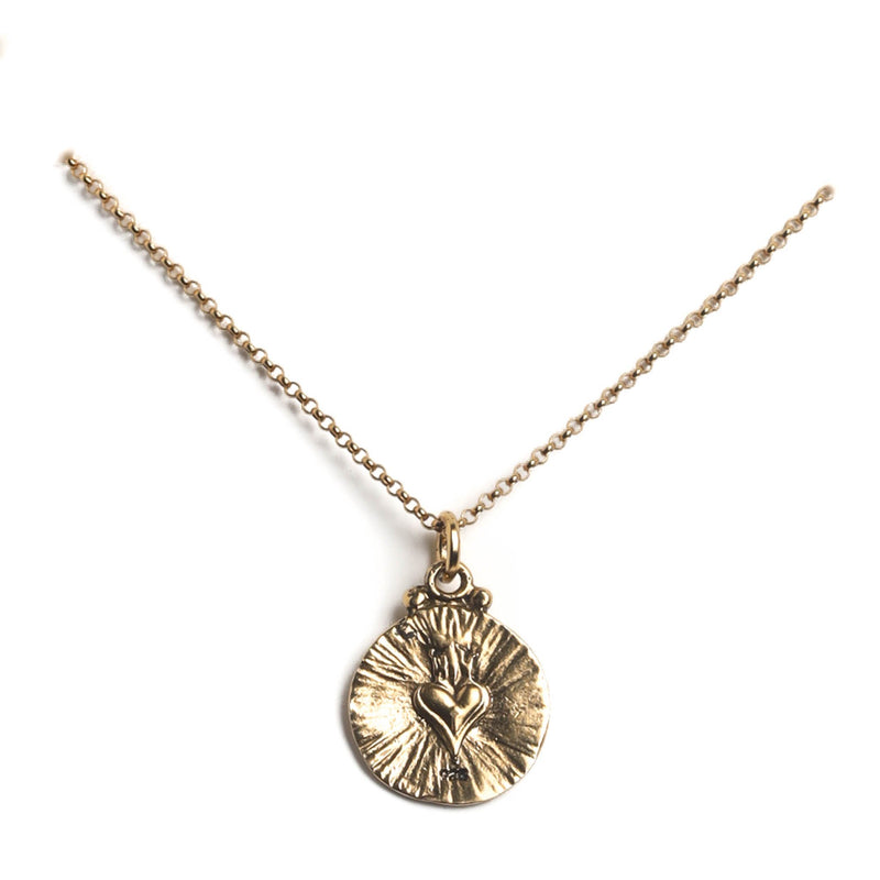 "My Guardian Angel charm 15"" to 17"" chain - 925 sterling silver gold vermeil - VSA Designs"
