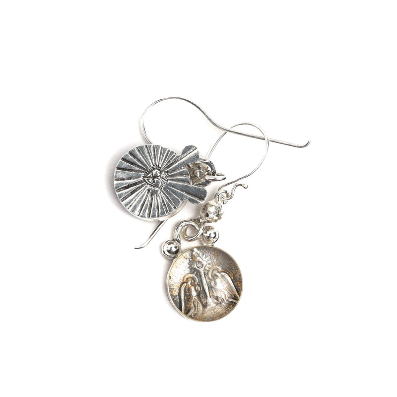 Luvie Guardian Angel hook earrings - VSA Designs