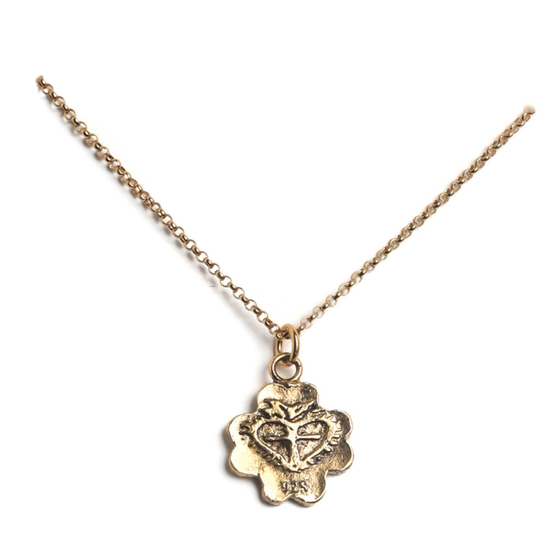 "My Lucky charm 15"" to 17"" chain - 925 sterling silver gold vermeil - VSA Designs"
