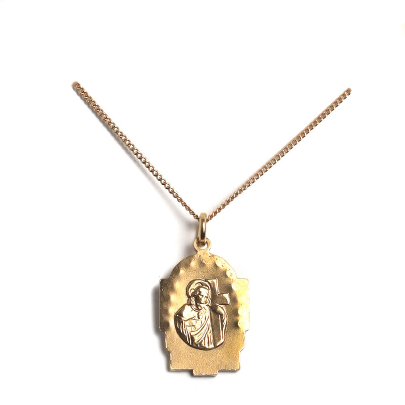 "Love my Guadalupe charm 15"" to 17"" chain - 18kt gold plated bronze - VSA Designs"