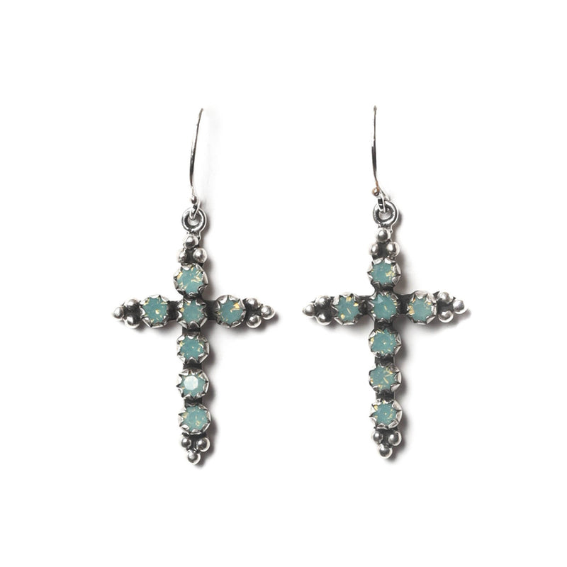 Madonna Cross earrings - Silver - DISCONTINUED