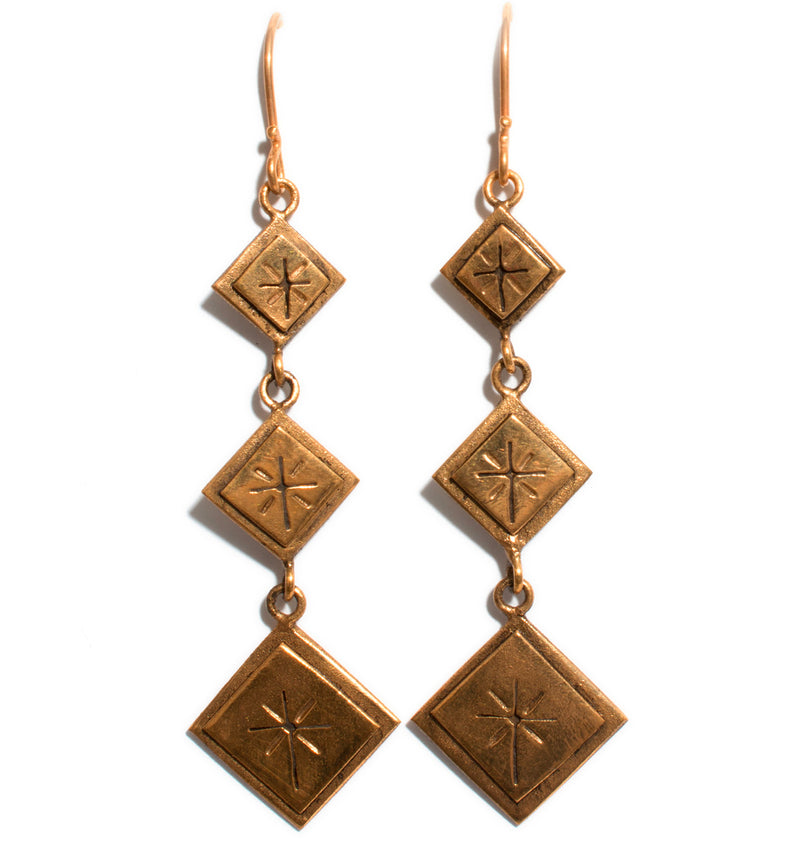 Santisimo 3 Square Earrings - VSA Designs