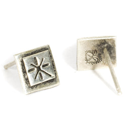 Santisimo Square Post Earrings - VSA Designs
