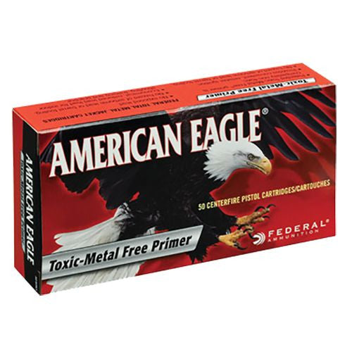 American Eagle Ammunition 40 S&W 180 Grain Total Metal Jacket - Toxic Metal Free Primer (50X)