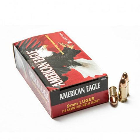 American Eagle 9mm 115 gr FMJ (Box of 50)