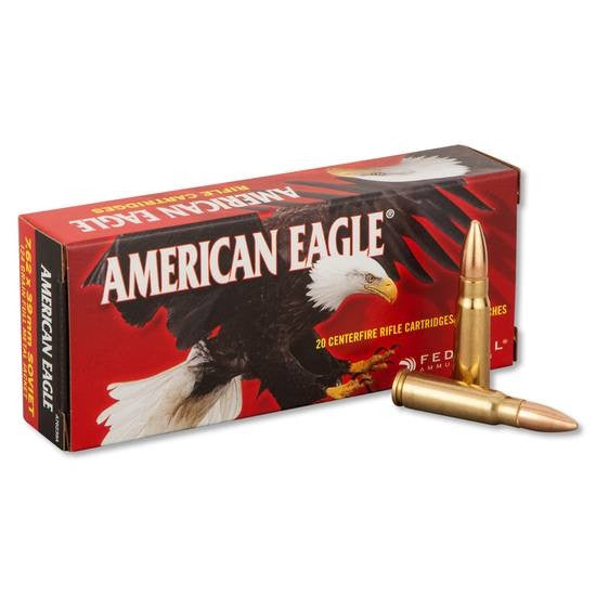 Federal American Eagle Ammunition 7.62x39mm Russian 124 Grain Full Metal Jacket (20 rounds)